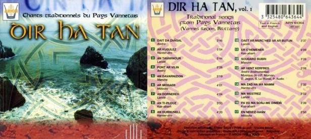"""""""Dir Ha Tan vol. 1 - Chants traditionnels du pays Vannetais"""""""