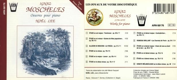 """Ignaz Moscheles """"Œuvres pour Piano"""" par Noël Lee au piano Bosendorfer"""