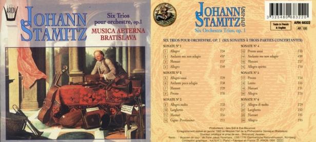 "Johann Stamitz ""Six Trios pour Orchestre, Op.1""avec la Musica Aeterna Bratislava"