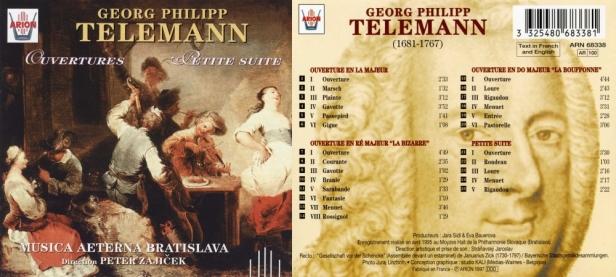 "Georg Philipp Telemann ""Ouvertures - Petite Suite"" avec la Musica Aeterna Bratislava, direction Peter Zajicek"