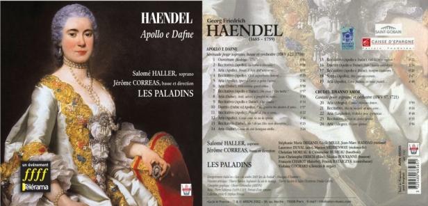 """Georg-Friedrich Haëndel """"Apollo e Dafne"""" avec Les Paladins dirgés par Jérôme Corréas et Salomé Haller, soprano"""