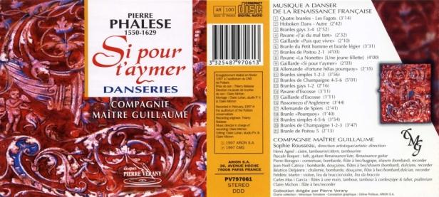 """Pierre Phalèse """"Si pour t'aymer - Danseries""""avec la Compagnie Maitre Guillaume dirigée par Sophie Rousseau"""