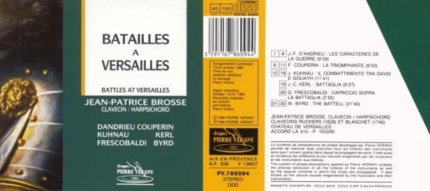 """""""Batailles à Versailles"""" avec Jean-Patrice Brosse au clavecin"""