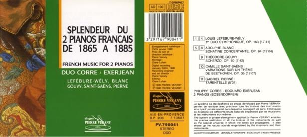"""""""Splendeur du 2 pianos français de 1865 à 1885"""" par le duo Philippe Corre et Edouard Exerjean aux pianos"""