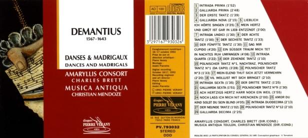 PV793032-Demantius Musica antiqua