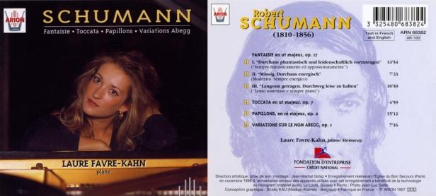 """Robert Schumann """"Fantaisie - Toccata - Papillons - Variations Abegg"""" avec Laure Favre-Khan au piano Steinway"""