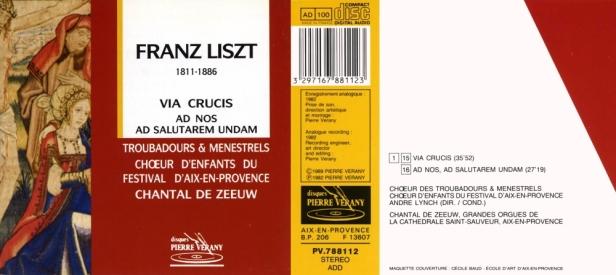 "Franz Liszt ""Via crucis - Ad nos, ad salutarem undam"" avec Chantal de Zeeuw à l'orgue et les Troubadours & Menestrels"