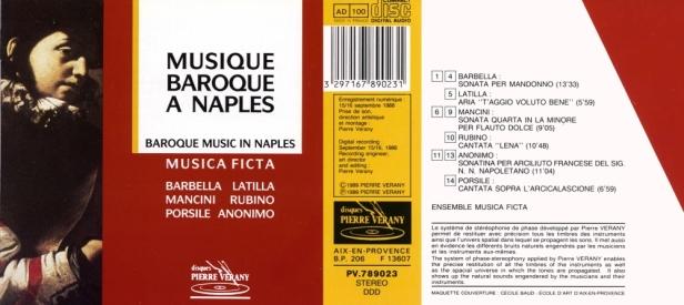 « Musique baroque à Naples » par l'Ensemble Musica Ficta et Bruno Ré à la viole de gambe et Marco Baesley, ténor