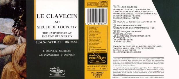 """""""Le clavecin au siècle de Louis XIV"""" par Jean-Patrice Brosse au clavecin"""