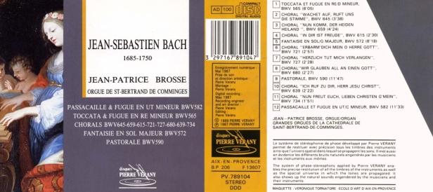 """""""Jean Sébastien Bach"""" par Jean-Patrice Brosse aux orgues de St-Bertrand de Comminges"""
