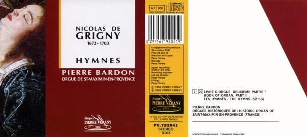 """Nicolas de Grigny """"Hymnes"""" par Pierre Bardon aux Orgues historiques de Saint-Maximin-en-Provence"""