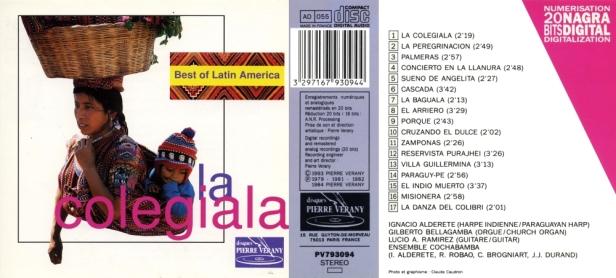 """Best of Latin America - La Colegiala"" avec Ignacio Alderete - Gilberto Bellagamba - L. A. Ramirez - Ensemble Cochabamba"
