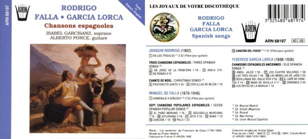 """Chansons Espagnoles - Rodriguo, Falla, Garcia..."" avec Alberto Ponce à la guitare et Isabel Garcisanz, soprano"